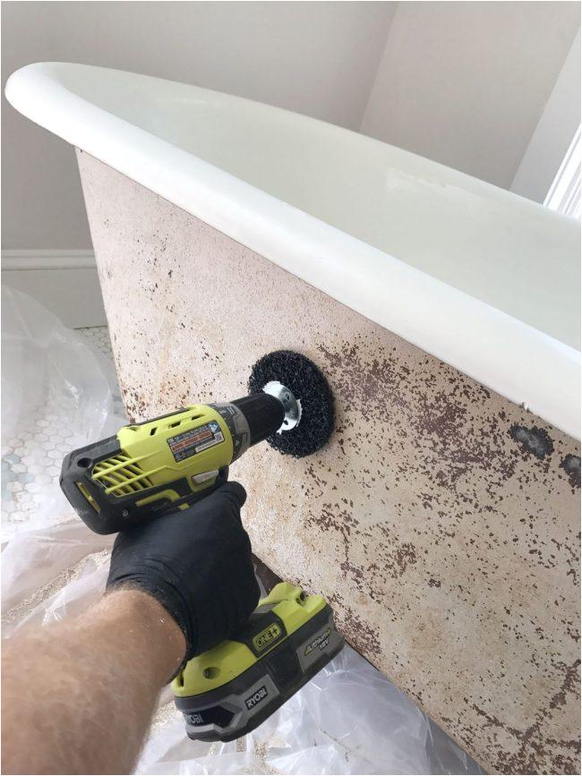 refinish clawfoot tub