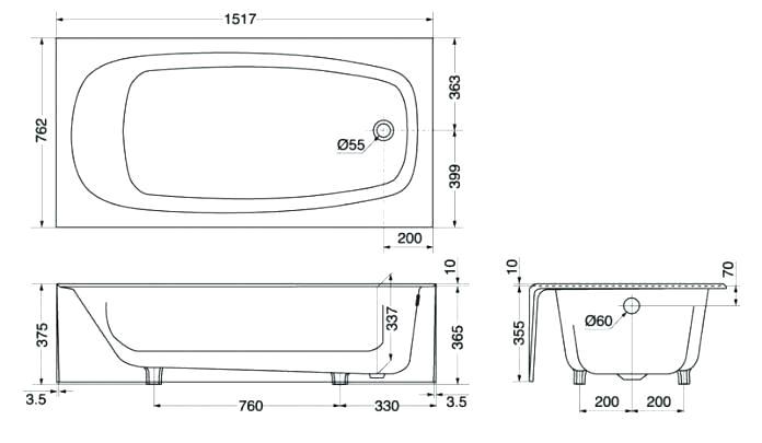 Clawfoot Bathtub Sizes Clawfoot Tub Dimensions Freestanding Bathtubs Bathtub