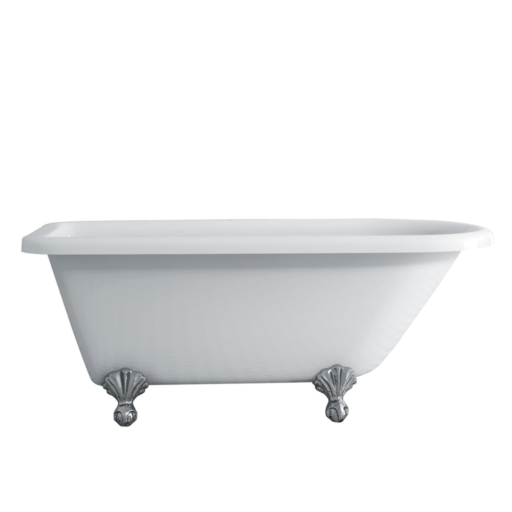 ptique 55 foot clawfoot tub with chrome legs