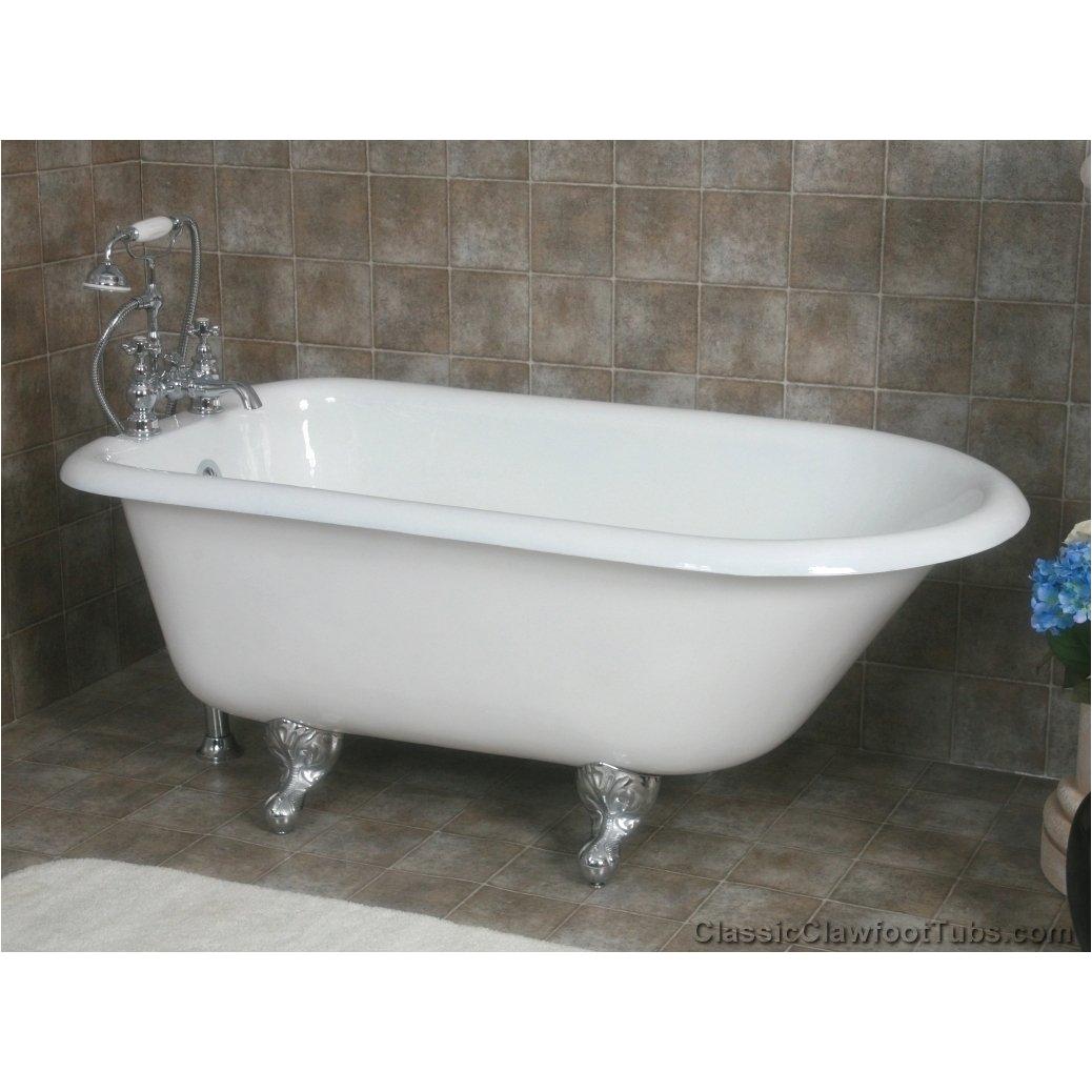 55 rolled rim cast iron clawfoot tub