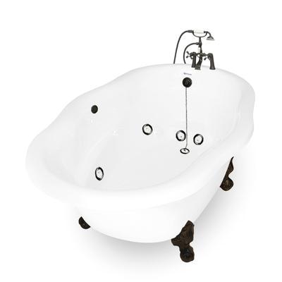 Clawfoot Bathtubs with Jets Caspian Clawfoot Whirlpool Bathtub – American Bath Factory