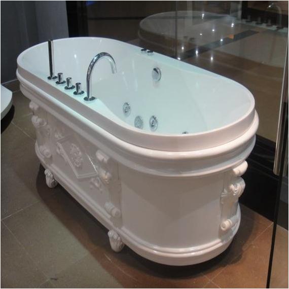 Clawfoot Jacuzzi Tub Jetted Pedestal Tub Freestanding Air Whirlpool Tub Free