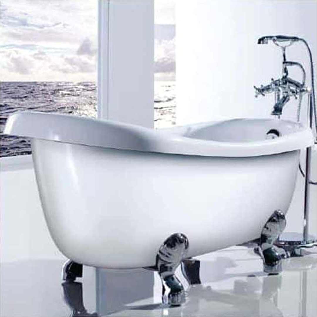 ECT Monarch BT 155 High Back Freestanding Bath Tub with Chrome Claws 6342
