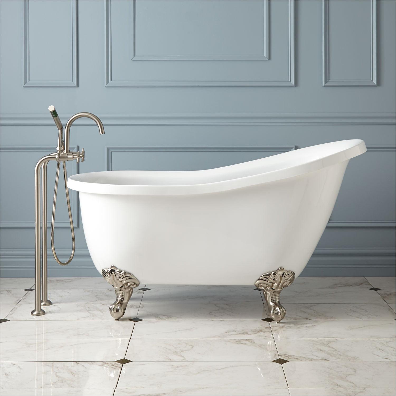 Clawfoot Tub Length Ultra Acrylic Slipper Clawfoot Tub Bathroom