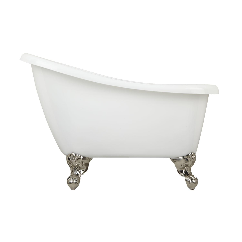 44 carter acrylic mini clawfoot slipper tub with imperial feet