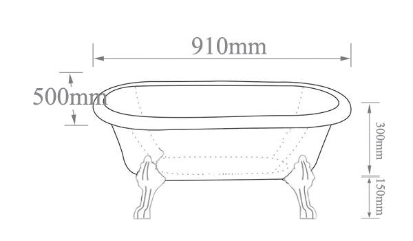 Clawfoot Tub Measurements Small Clawfoot Tub