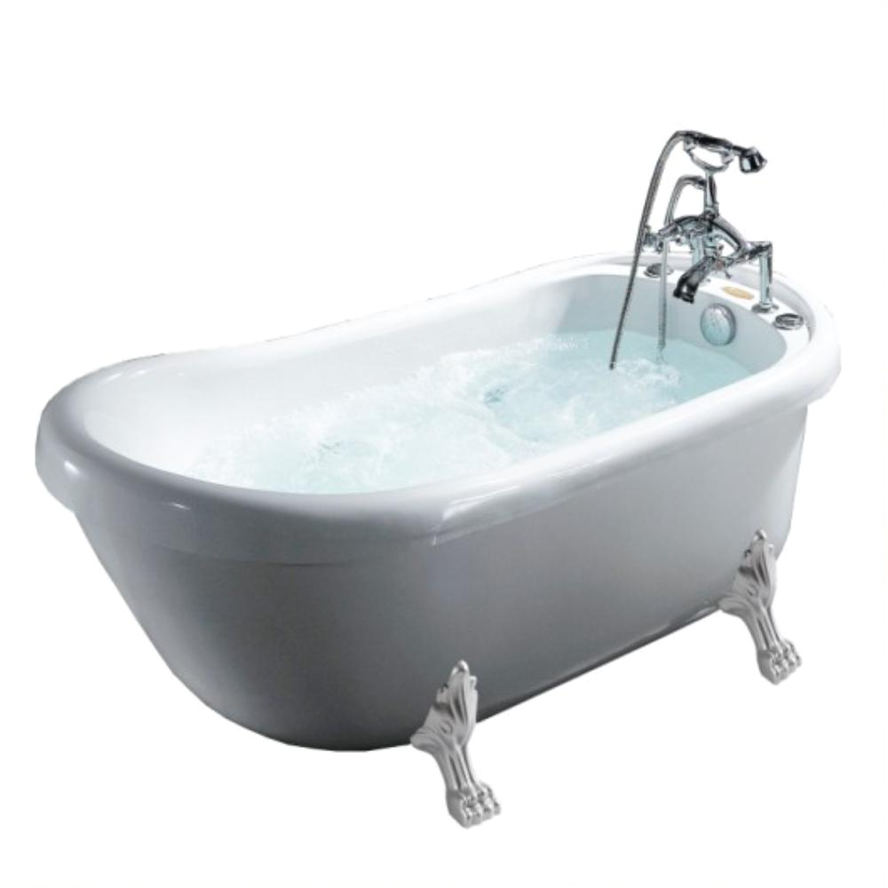 Clawfoot Tub Outside Mesa 67 In Freestanding Clawfoot Whirlpool Bathtub with