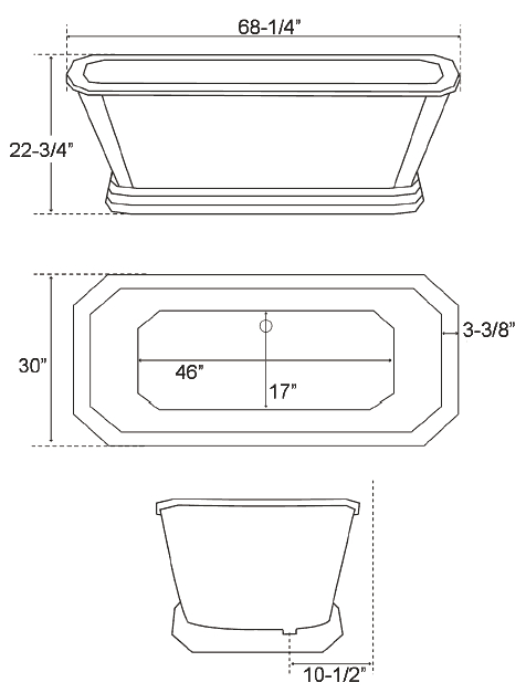 bathtub standard size
