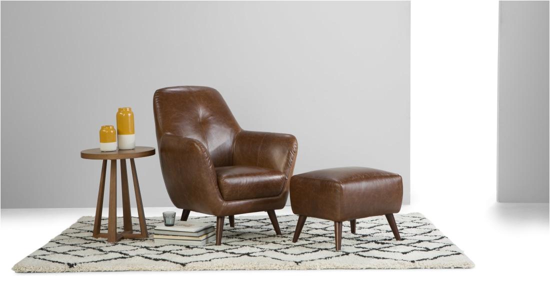 prado accent chair antique cognac leather