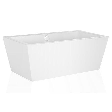 "Contemporary Stand Alone Bathtub Empava 63"" Luxury Freestanding Bathtub Acrylic soaking Spa"