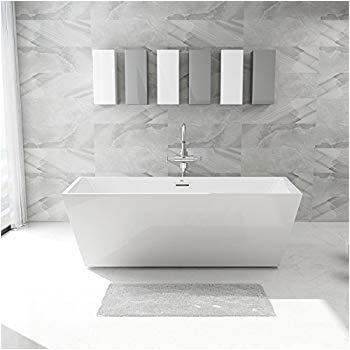 Contemporary Stand Alone Bathtub Ferdy Freestanding Bathtub soaking Bath Tub Stand Alone