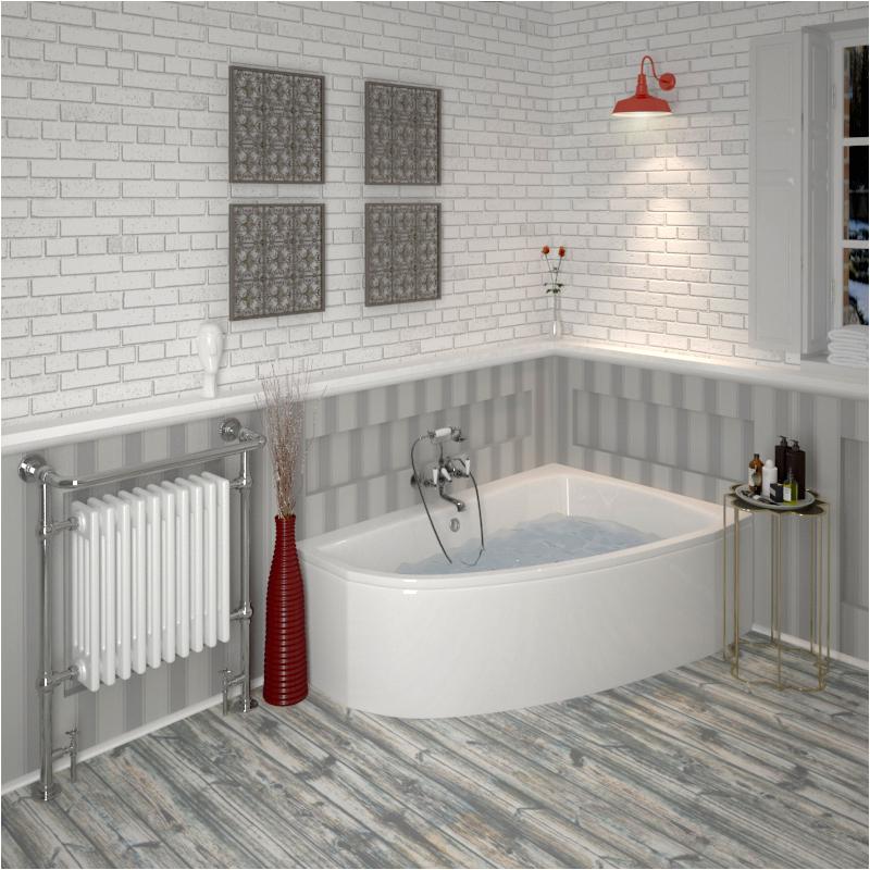 clia right hand offset corner bath panel
