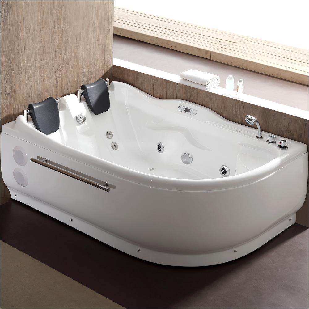 Corner Bathtubs with Jets Eago 71 In Acrylic Left Drain Corner Apron Front