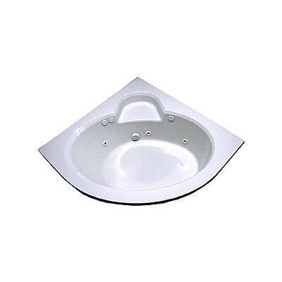 "Corner Whirlpool Round Bathtub Nova 60"" X 60"" Round Front Corner Whirlpool Tub"