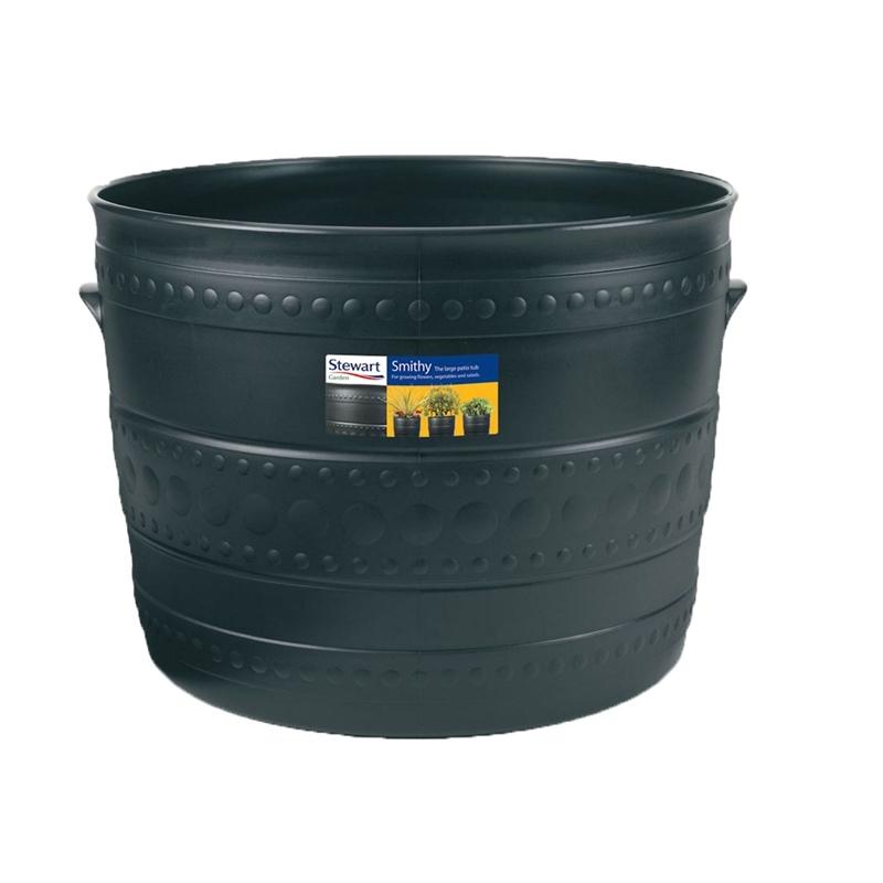 plastic patio tub in black 50cm p
