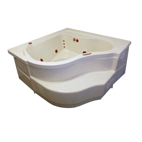 American Acrylic 60 x 60 Whirlpool Deep Corner Whirpool Tub BR 16W8 XCX1001