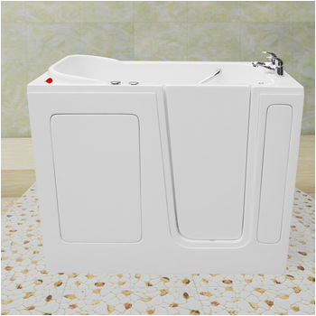 small deep soaking bathtub for old