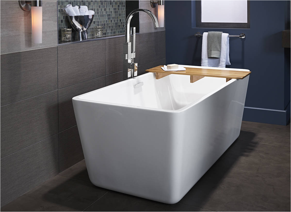 luxuriate with a deep soak in american standard freestanding tubs