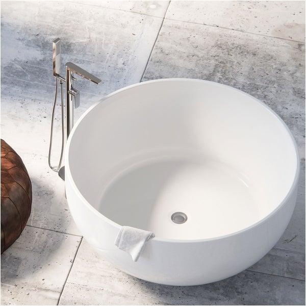 Deep Round Bathtubs Shop Maykke Vale 53 Inch Round 2 Person Deep soaking Tub