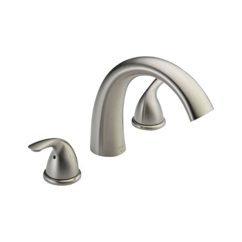 Delta T2705 SS Classic Two Handle Roman Tub Trim Stainless Steel