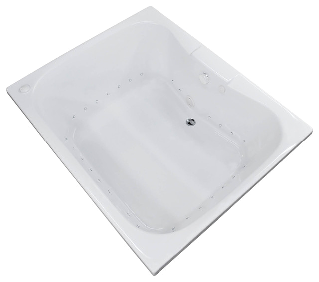 veronesse 48 x 60 rectangular air drop in bathtub w center drain left pump contemporary bathtubs