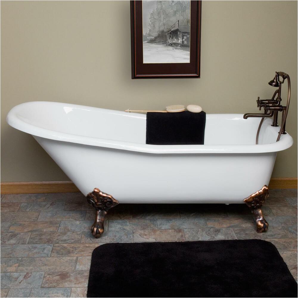 """Ebay Clawfoot Tub 66"""" Goodwin Cast Iron Slipper Clawfoot Tub"""