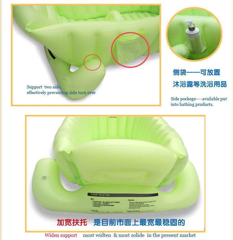 real top fashion baby ring inflatable tubs infant inflatable swimming pool baby tub soft bathtub eco friendly portable bath