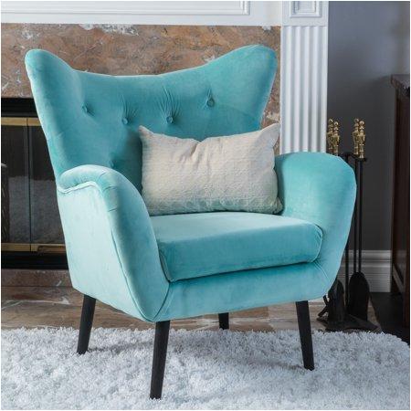 Electric Blue Accent Chair Noble House Simon Light Blue Arm Accent Chair Walmart