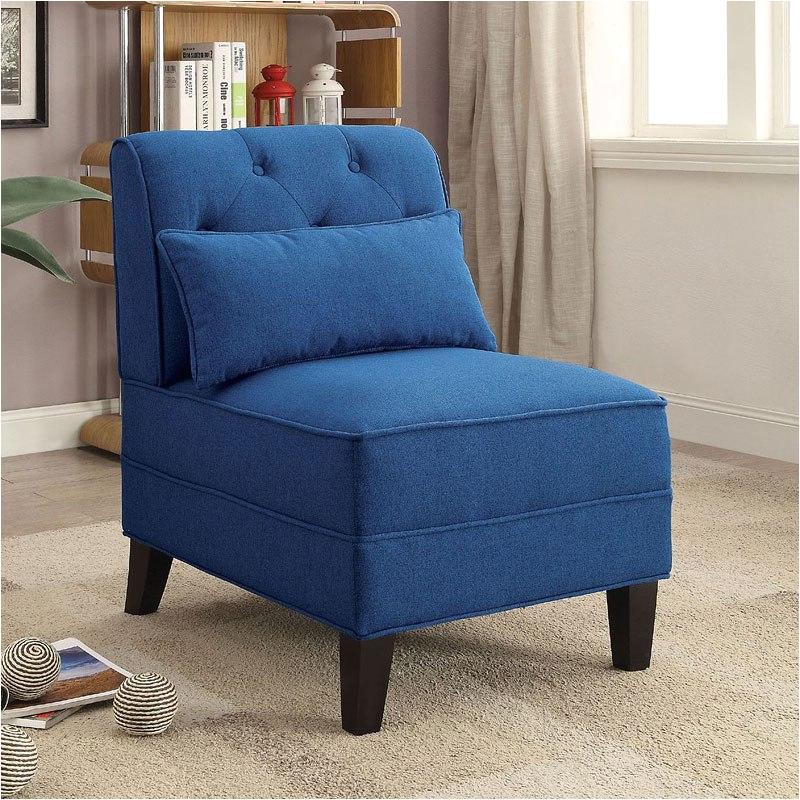 susanna accent chair w pillow blue acme furniture