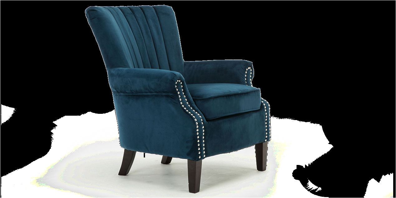 Elizabeth Velvet Accent Chair orlenca Accent Chair In Midnight Blue Velvet