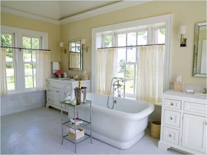 Empire Freestanding Bathtub Tub In Front Of Window Traditional Bathroom Alisberg