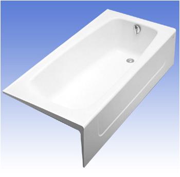Toto FBY1715RP 01 Enameled Cast Iron Tub Cotton White