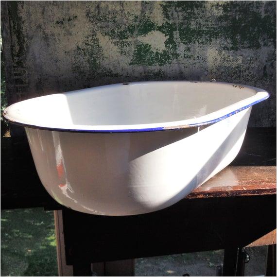 enamelware baby bathtub heavy white ref=market