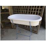 vintage enamelware baby bath tub iron