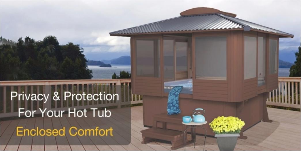 enclosed hot tub gazebo