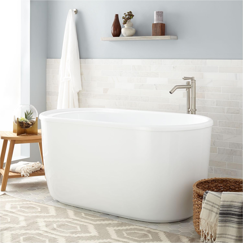 """Extra Deep 5 Foot Bathtub 55"""" Vada Acrylic soaking Tub Bathroom"""