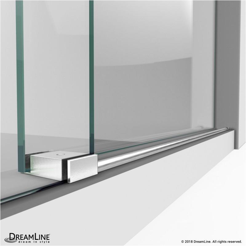 dreamline enigma x 44 to 48 in fully frameless sliding shower door shdr 07