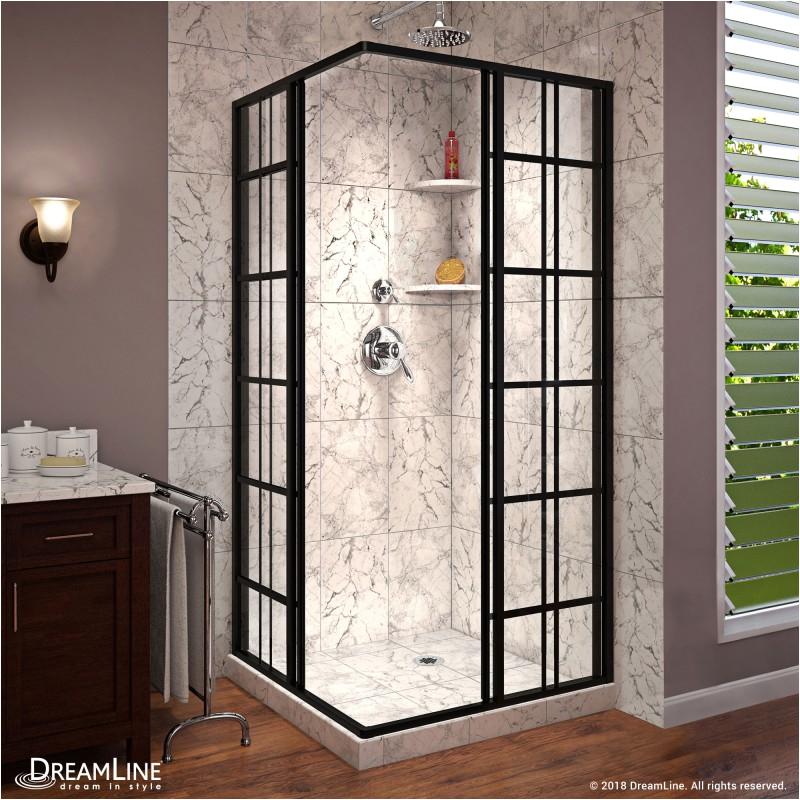 dreamline french corner 34 1 2 in w x 34 1 2 in d x 72 in h sliding shower enclosure shen 89