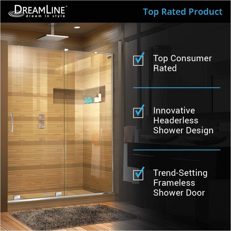 mirage x 44 to 60 sliding shower door shdr l 01