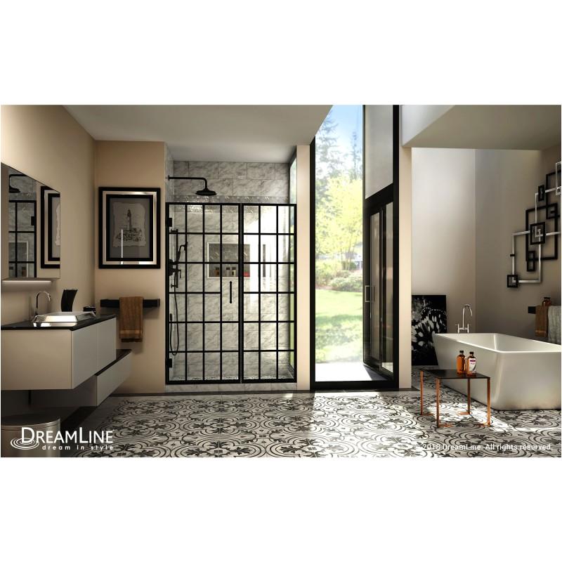 unidoor toulon frameless hinged shower door shdr 89