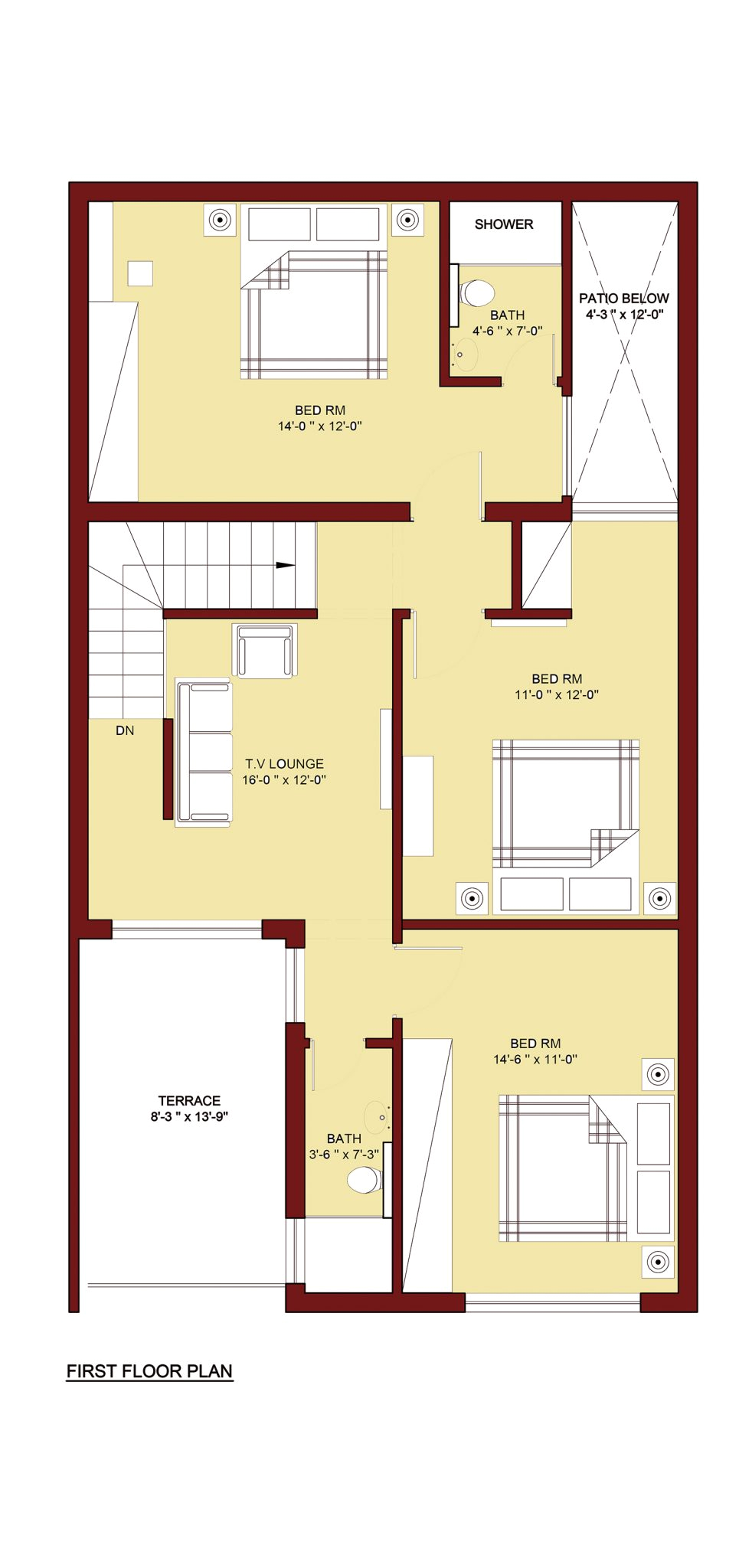 100 sq m home plan 5 marla