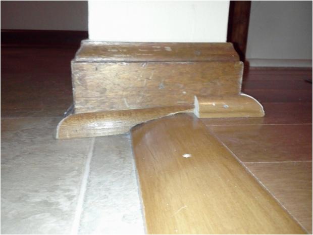 uneven floor transition shoe trim