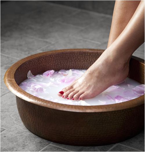 spa bowl ped20 large spa foot soak hammered copper pedicure bowl