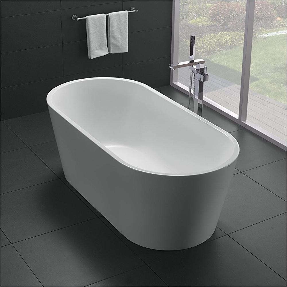 eviva alexa 60 white acrylic free standing bathtub