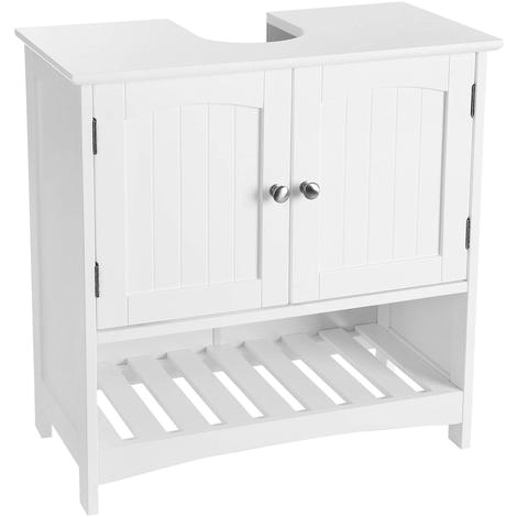 under sink bathroom cabinet with open storage partment free standing country style wooden storage cabinet cupboard white 60 x 30 x 60cm w x d x h bbc03wt