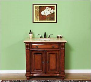 "Freestanding Bathroom Vanity Cabinets 36"" solid Wood Free Standing Bathroom Furniture Cabinet"