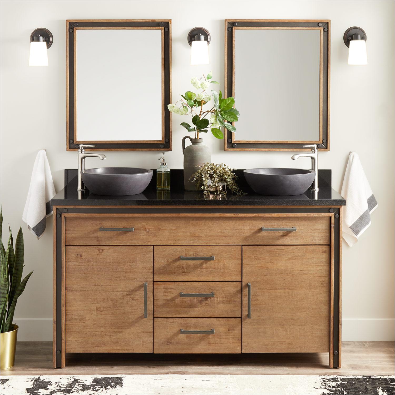 freestanding sleek sink vanity