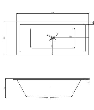 freestanding bath nirvana 1300