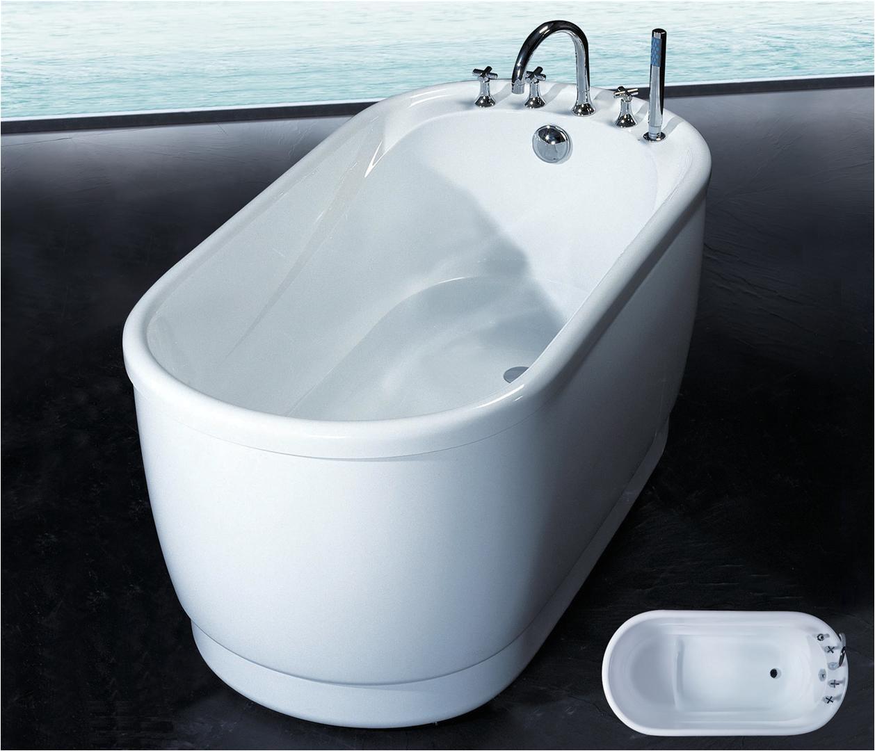 Freestanding Bathtub 1300mm Piccolo 1400mm Freestanding Acrylic Baths