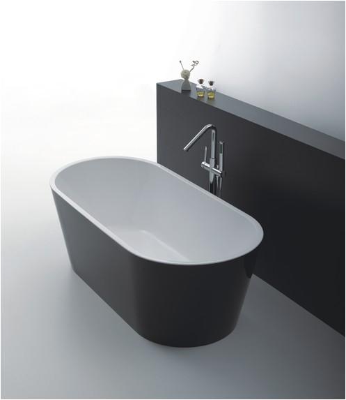 Freestanding Bathtub 1500mm Black Oslo Freestanding Bathtub 1500mm